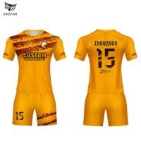Men's College Football Jersey Yellow Uniformes De Futbol Soccer