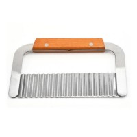 Stainless Steel Wave Cutter  Wide Crinkle Cutter  Cutting Tool  Salad Chopping Knife  Potato Carrot