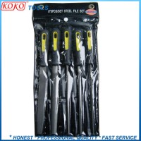 """8"""" Machinery Steel T8 Carbon Steel 5PCS Steel File in Polybag Packing (07630)"""