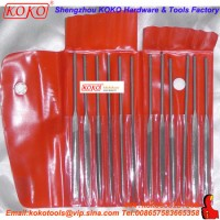 12PCS Bearing Steel professional Red Bag Packing Needle File Set (121312)