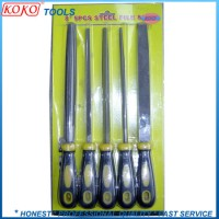"""5PCS 8"""" or 10"""" Machinery Steel Files in Blister Packing"""