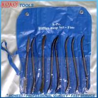 """10"""" 8 PCS Riffler Rasp Files Set Medium Teeth 190mm Length"""