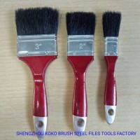 #441 Painting Wooden Handle Black Bristles Filament Synthetic Paint Brush