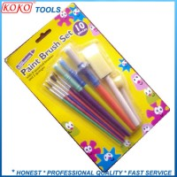 10PCS Paint Brush Set with Brush Artist Brush Foam Brush