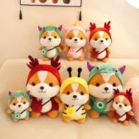 Soft Stuffed Plush Toy Cute Squirrel Shiba Inu Dog