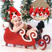 Soft Stuffed Plush New Red Children Christmas Cute Hat Snowman Santa Claus Bear Elk