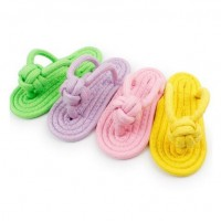 Braided Cotton Candy Color String Bearable Pet Baiting Slipper Toy