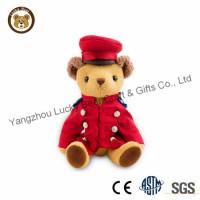 Delicate Plush Teddy Bear with Uniform