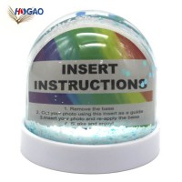 Custom Color Glitter Base Clear Acrylic Dome DIY Acrylic Photo Insert Water Globe Plastic Empty Snow
