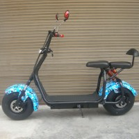 New Fat Tire 1500W 60V 12ah Electric Scooter Adult Electric Motorcycle