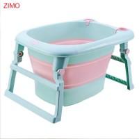 SGS Test Passed Collapsible Portable Foldable Infant Barrel Newborn Bucket Folding Plastic Baby Bath
