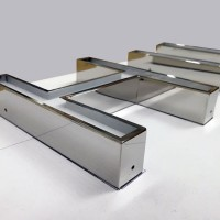 Illuminated stainless Steel Channel Letter Sign Mirror Polish Finished