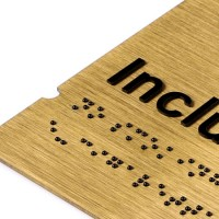 Directional Sign for Public Use Braille Sign