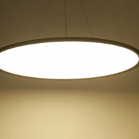 Large round ultra thin panel lamp