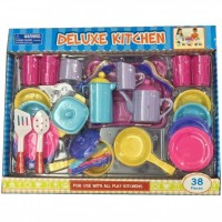New hot selling 38PCS Kitchen playset plastic roleplay  toys
