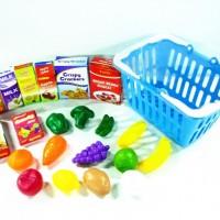 New hot selling 21 pcs food set w/ basket playset