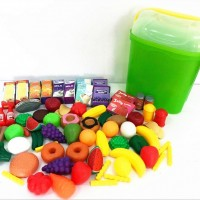 New hot selling 70PCS playfood set plastic roleplay toys