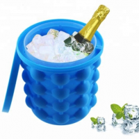 Big size Durable Non-toxic silicone rubber ice bucket