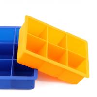 non-toxic silicone 6pcs tray custom ice cube mold