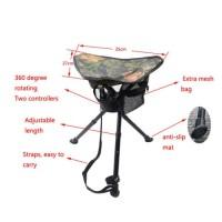 Folding Portable Hunting Triangle Stool 360 Degree Swivel Hunting Chair