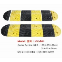 Reflective Driveway Safety Industrial Rubber Speed Bump
