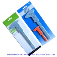 "6"" 1-180mm 50PCS Polybag Bulk Packing Plastic Vernier Caliper Measuring Tools"