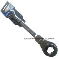 Flexible Head Ratchet Flare Nut Wrench Flare Nut Spanner (WW-FNW02)