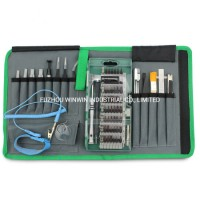 80 in 1 Electronics Repair Tool Kit with Portable Oxford Bag for Repair Cell Phone  iPhone  iPad  Wa