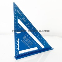 """7"""" Professional Aluminum Alloy Rafter Square Set Square Speed Square with Laser Marking (WW-7AR"""