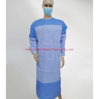 Eo Sterile SMS Disposable Reinforced Surgical Gown with Knitted Cuff