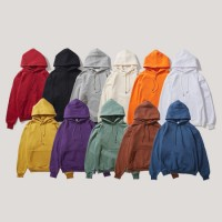 High Quality Winter Autumn Plain Thick Warm Custom Logo Oversized Pullover Hoodies for Men