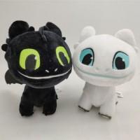 Hot How to Train Your Dragon Plush Toys Soft White Black Dragon Stuffed Animals
