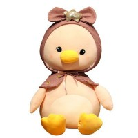 30-55cm Soft Stuffed Plush Baby Toy Hot Sell Lovely Sitting Duck with Star Hat