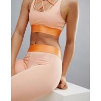 Custom Tank Top Girl Energetic Orange Sets Workout Outfits Sportswear for Women
