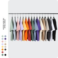 Custom Printing Tee Shirts Mens 2021 Fashion Plain White/Black Quick Dry 100% Cotton Blank Streetwea