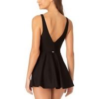 Women's V-Neck Swimdress Adjustable Shoulder Straps Swimwear