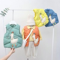 Wholesale Winter Girls Boys Ruffle Jacket Outdoor Casual Kids Clothing Animal Patch Vest