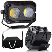 Newest Super Bright Double Lens Bi-Color U10 LED Projector Motorcycle LED Headlight Auto Lights LED