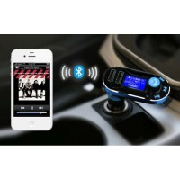 Car Cigarette Lighters with 2.1A LCD Display Car Kit Bluetooth Wireless Car MP3 FM Transmit with Dou