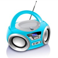 Portable Portable with CD/FM/USB/MP3/LCD Screen/DAB/Audio Input with Flash Cdboombox