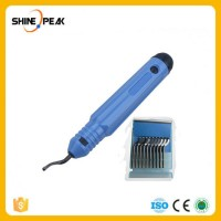 1100 Plastic Burr Handle with 10PC BS1010 Blades Knife Hand Deburring Tool for Cutting Plastic