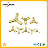 Brass Splicer Pipe Fitting Y Shape 3 Way Hose Barb 4mm 6mm 8mm 10mm 12mm 16mm Copper Barbed Connecto