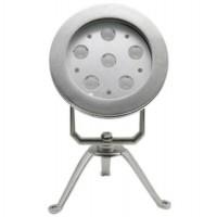 IP68 RGB 6X3w Stainless Steel LED Underwater Spot Light with Bracket LED Pool Lighting