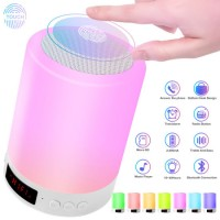 Wireless Bluetooth Speaker Musical Night Light Speaker Lamp 7 Color LED Rechargeable Wireless Touch