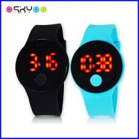 New Arrival Roundness Touch Screen LED Digital Watch