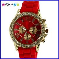 LED Diamond Geneva Quartz Watch