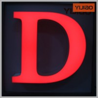 Commercial Custom Halo 3D Mini Letters Acrylic Lighted Channel Signs