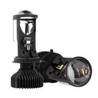 H4 9003 LED Mini Bi-LED Projector Headlight Lens 70W 5500K LED Light Bulb