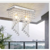 E12 E14 One Head/Two Heads LED Square Entrance Hallway Corridor Crystal Living Room Bedroom Ceiling