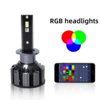 Auto RGB Headlight Projector LED Devil Eye Demon Eye Lamp for Car APP Remote Control Projector